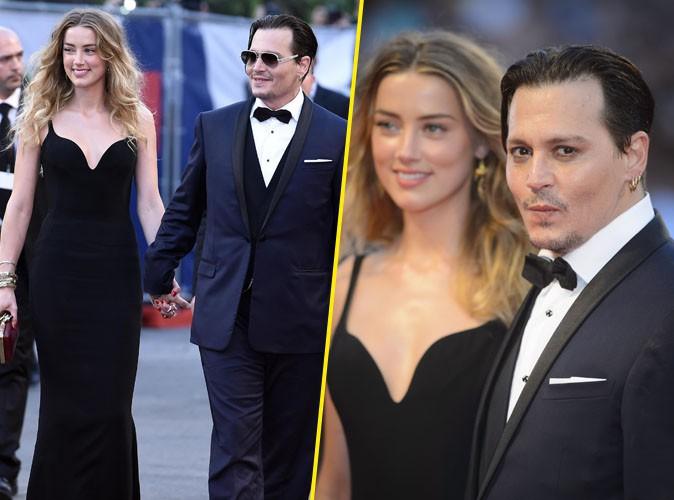 Johnny Depp et Amber Heard à Venise le 4 août 2015