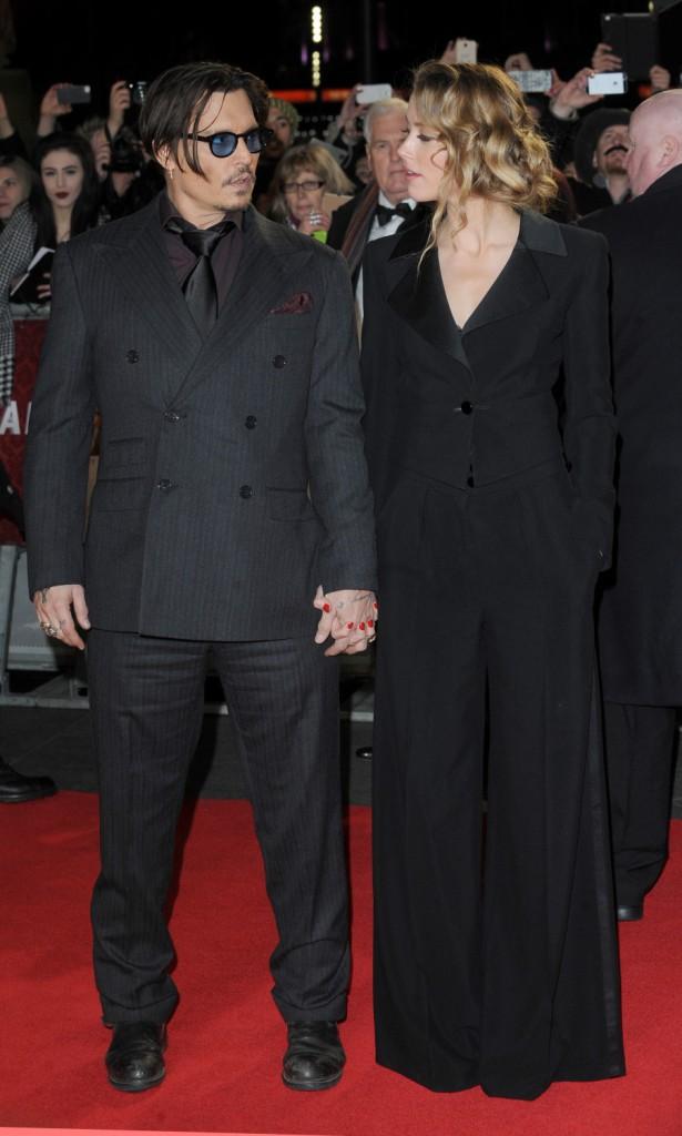 Photos : Johnny Depp et Amber Heard : plus heureux et radieux que jamais à l'avant-première de Charlie Mortdecai !