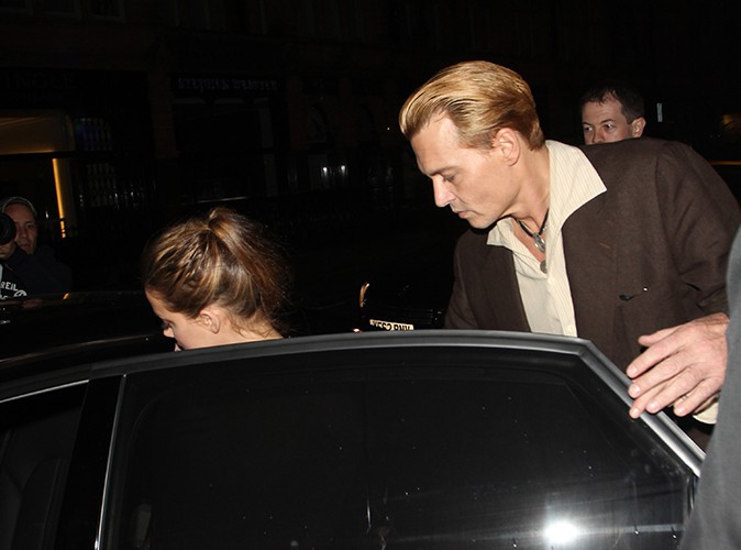 Johnny Depp et Amber Heard à Londres le 24 octobre 2013