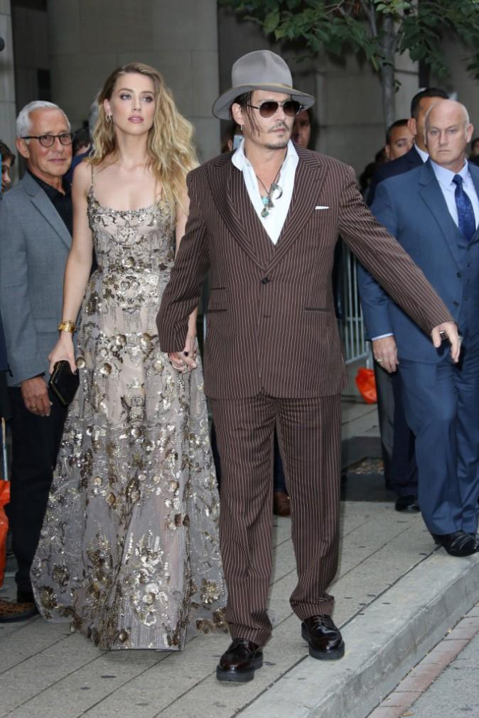 Johnny Depp et Amber Heard à Toronto le 12 septembre 2015