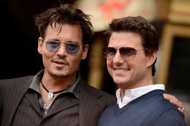 Johnny Depp et Tom Cruise le 24 juin 2013 à Los Angeles