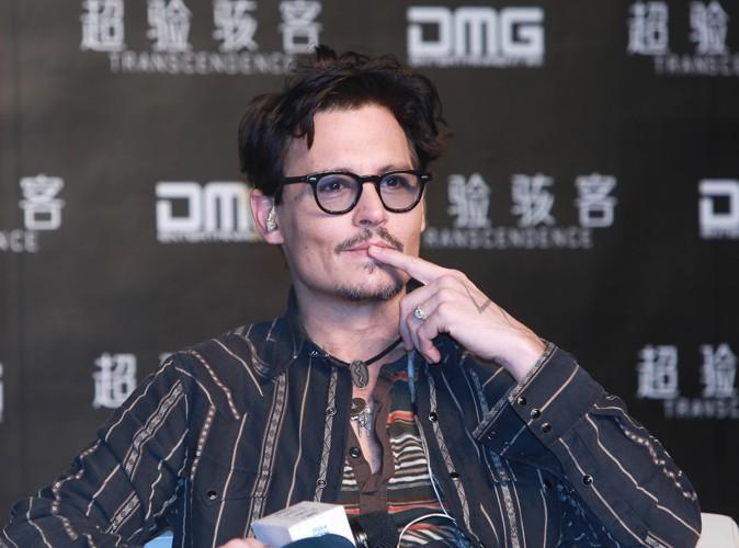 Johnny Depp à Pékin le 31 mars 2014