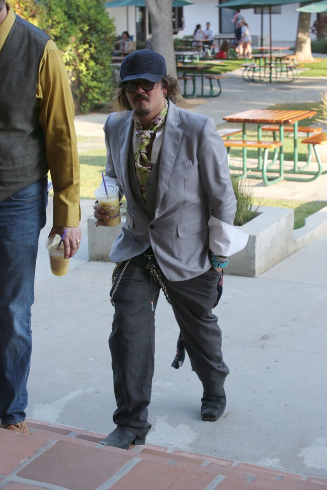 Johnny Depp à Los Angeles le 19 août 2015