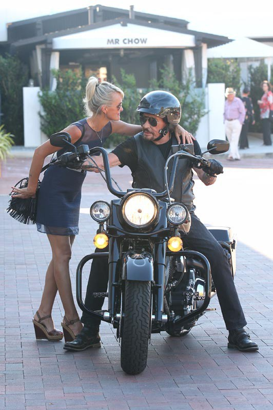 Johnny et Laeticia Hallyday à Los Angeles le 5 octobre 2014