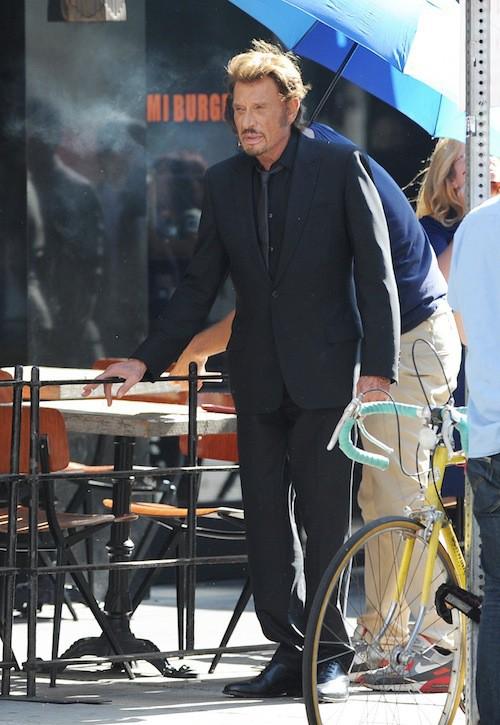 Photos : Johnny Hallyday : tournage en famille pour son nouveau clip !