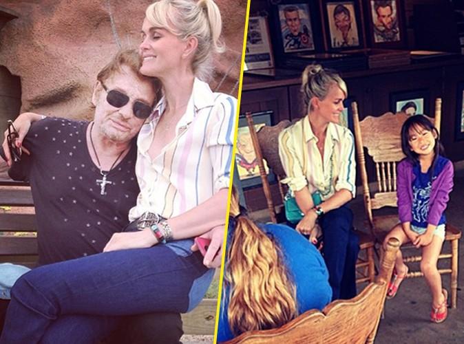 Photos : Johnny Hallyday : virée au parc d'attractions avec les trois femmes de sa vie !