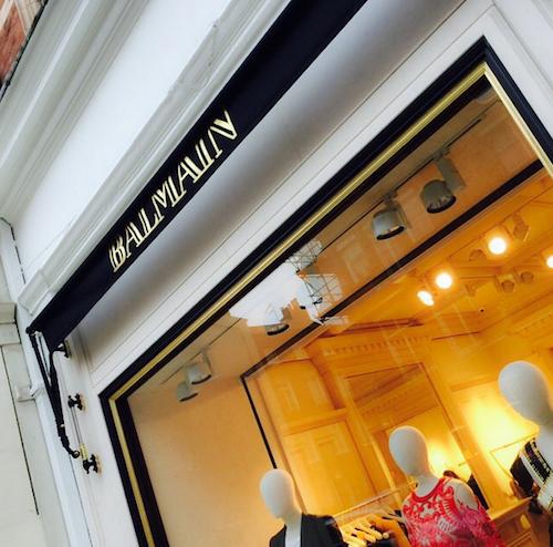 La nouvelle boutique Balmain à Londres