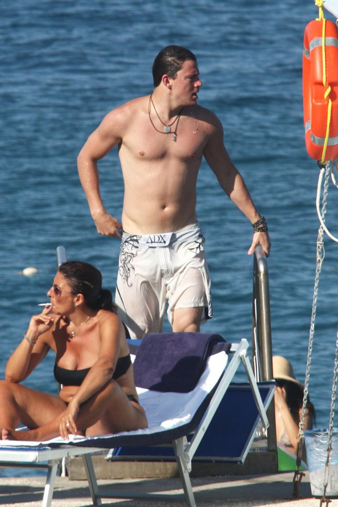 Channing Tatum à la plage