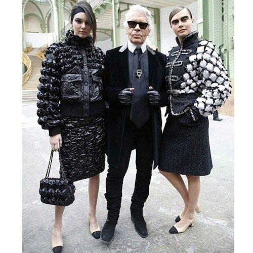 Avec Karl Lagerfeld et Cara Delevingne