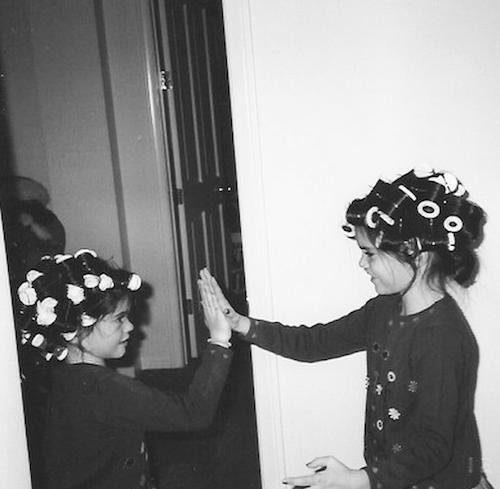 Kendall Jenner enfant avec Kylie Jenner