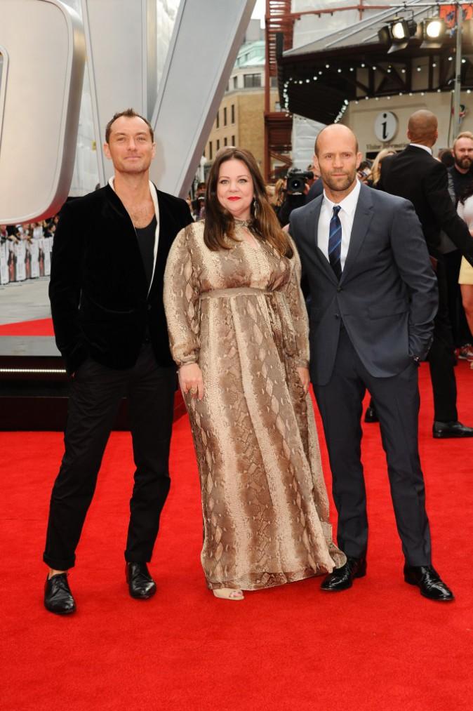 Jude Law, Jason Statham et Melissa McCarthy le 27 mai 2015
