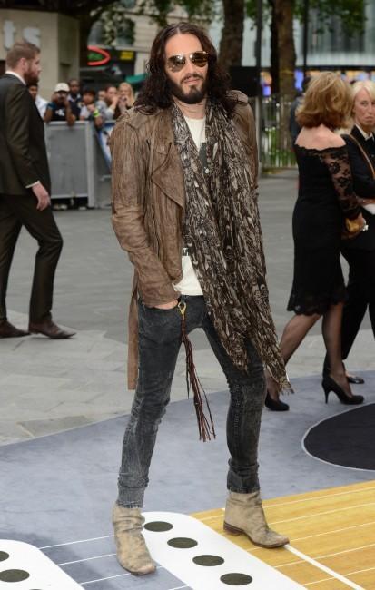 Russell Brand lors de la première de Rock of Ages à Londres, le 10 juin 2012.