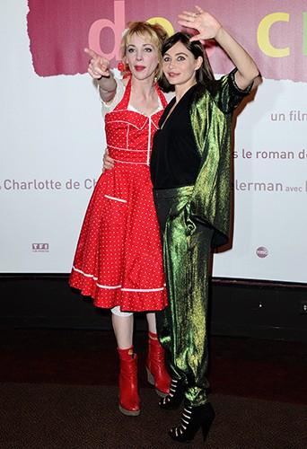 Julie Depardieu et Emmanuelle Béart à Paris le 31 mars 2014