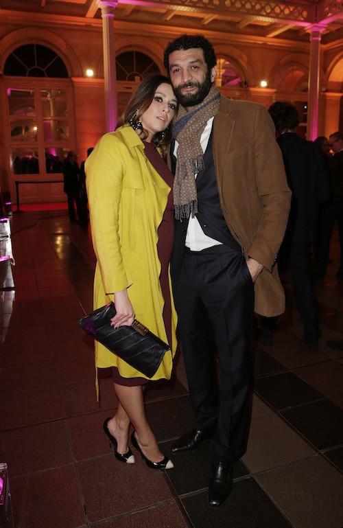 Ramzy Bedia et sa compagne, Marion, aux Trophées du Film Français à Paris, le 12 février 2015