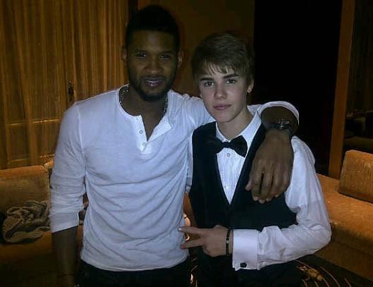 Retrouvailles avec Usher à Paris hier soir ...