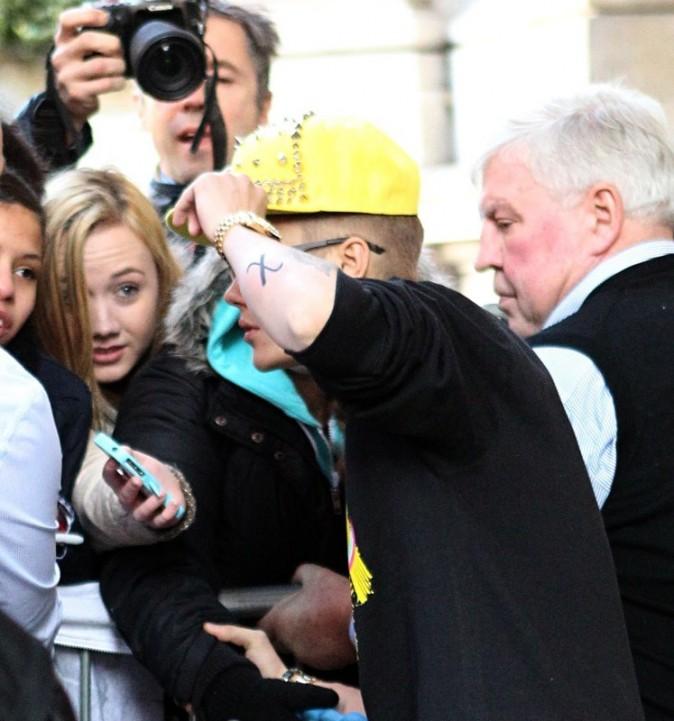 Justin Bieber, Londres, 27 février 2013.