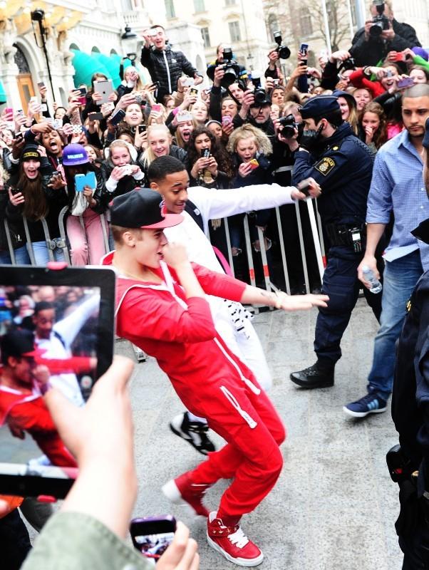 Justin Bieber, Stockholm, 24 avril 2013.