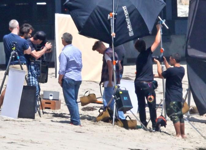 Justin Bieber en shooting à Los Angeles le 28 juin 2012