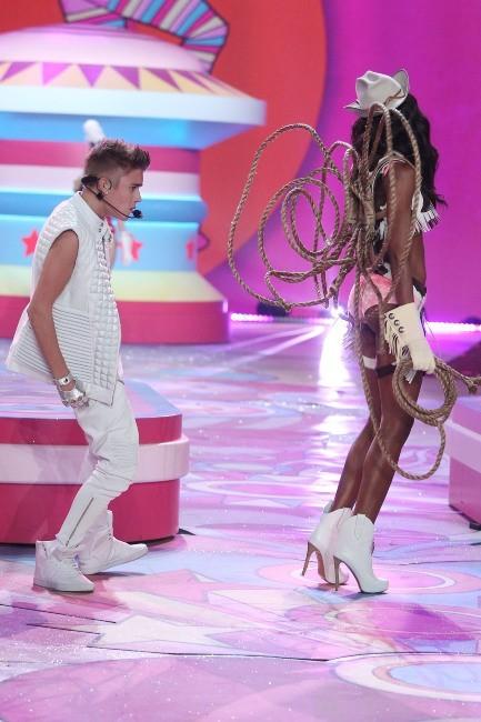 Justin Bieber lors du défilé Victoria's Secret à New york, le 7 novembre 2012.