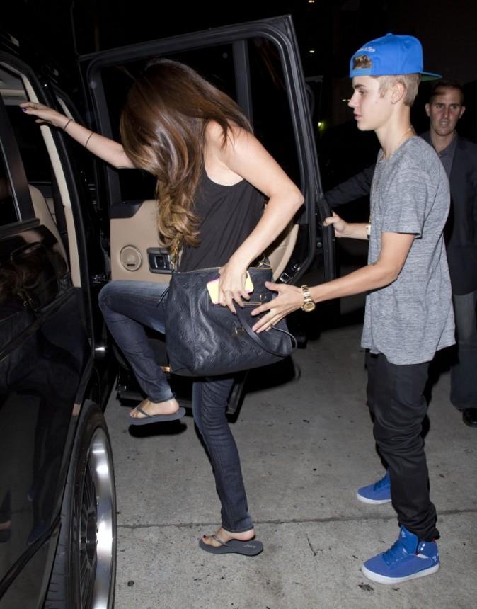 Justin Bieber et Selena Gomez à Hollywood, le 5 juillet 2012.