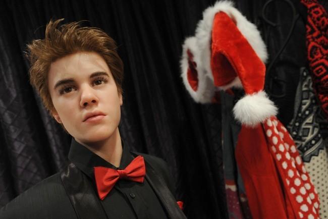 Statue de cire de Justin Bieber dévoilée au Musée Madame Tussauds de New York, le 17 novembre 2011.