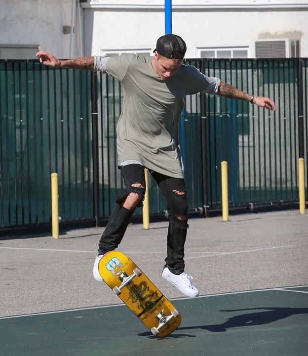 Justin Bieber à Santa Monica le 22 juillet 2015