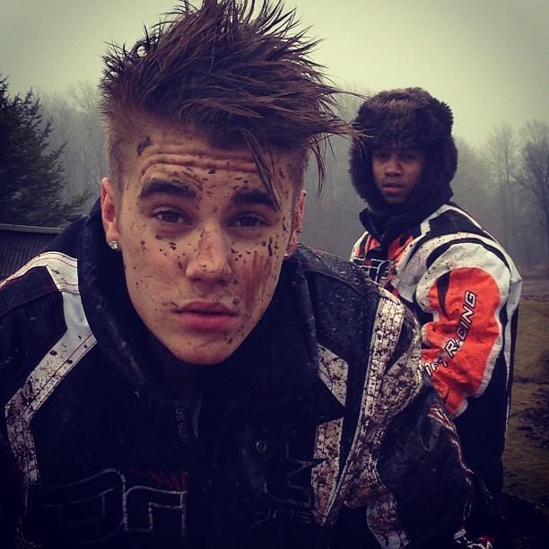 Justin Bieber après une sortie quad avec son ami Lil Twist