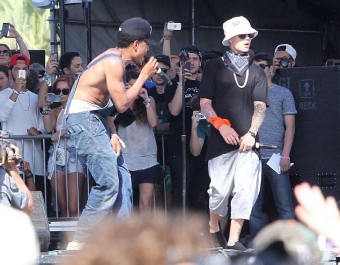 Justin Bieber au festival de Coachella le 13 avril 2014
