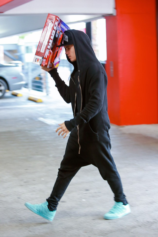 Justin Bieber à Los Angeles le 16 décembre 2014