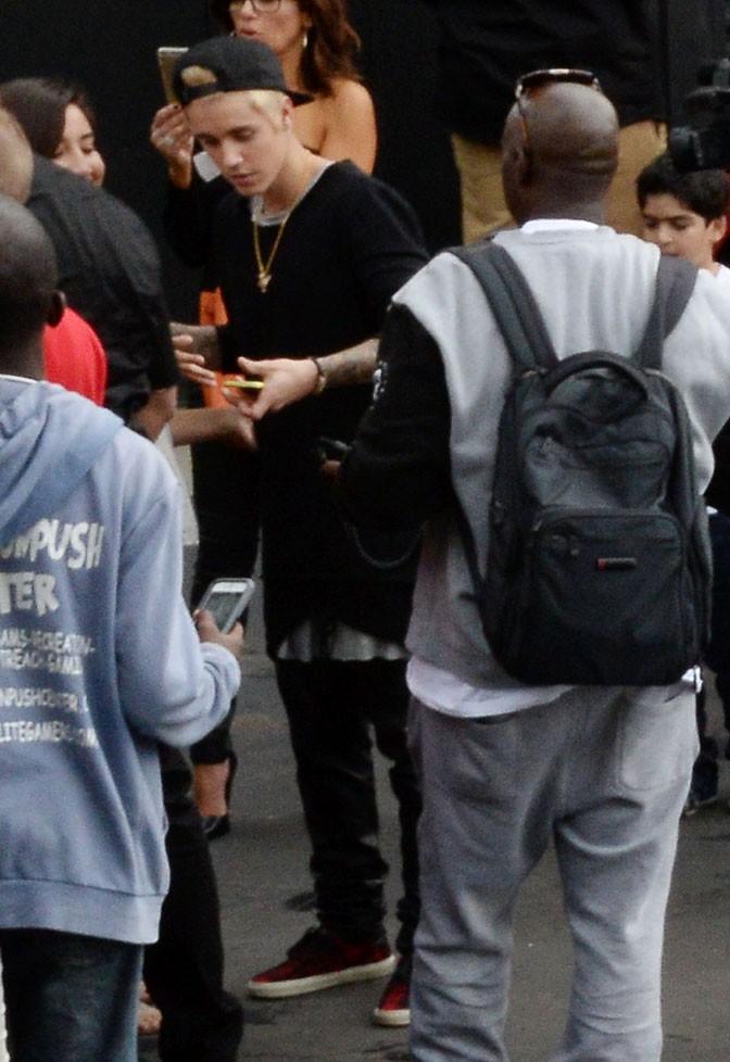 Justin Bieber à Los Angeles le 7 décembre 2014