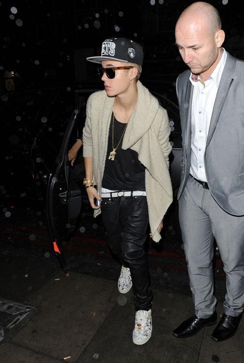 Justin Bieber à Londres le 28 février 2013