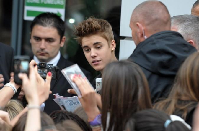 Justin Bieber en showcase à Paris le 31 mai 2012