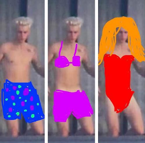Photos : Justin Bieber nu : la toile s'en donne à cœur joie !