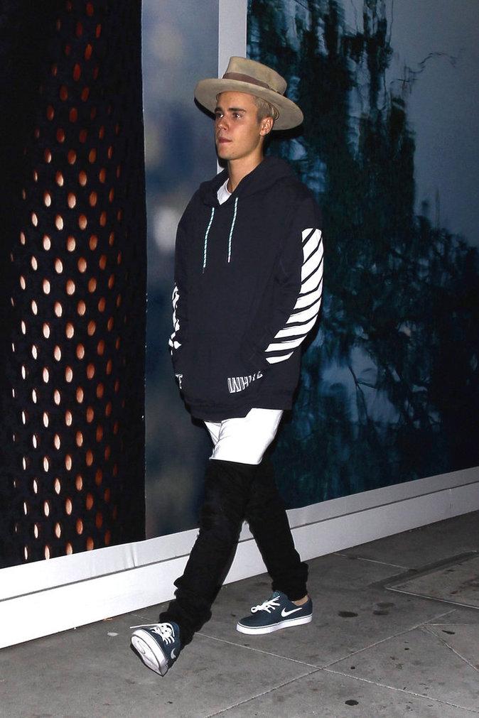 Justin Bieber à Beverly Hills le 16 octobre 2015