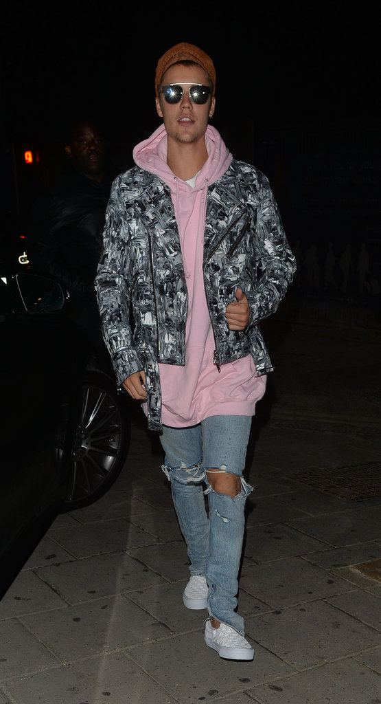 Justin Bieber avec Bronte Brampied dans un club à Londres