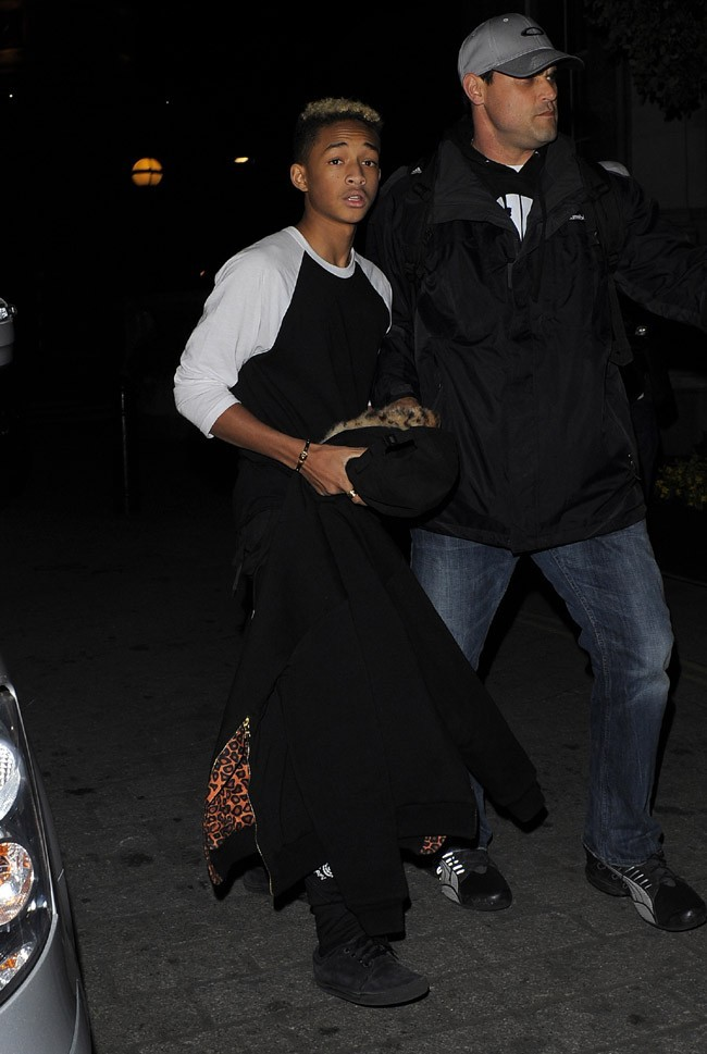 Jaden Smith de sortie à Londres avec Justin Bieber pour son anniversaire le 1er mars 2013