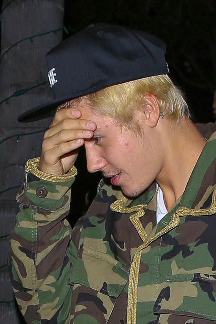 Justin Bieber à Beverly Hills le 7 janvier 2015