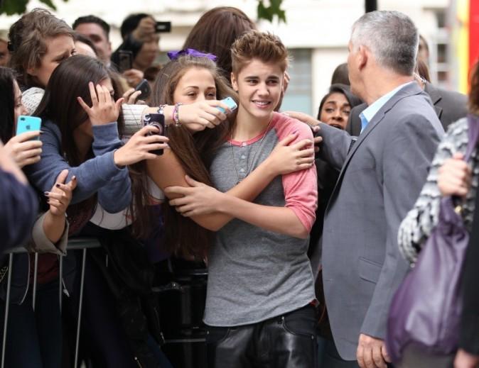 Justin Bieber, Londres, 12 septembre 2012.