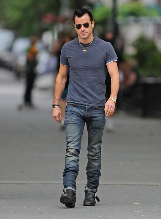 Justin Theroux dans les rues de New York