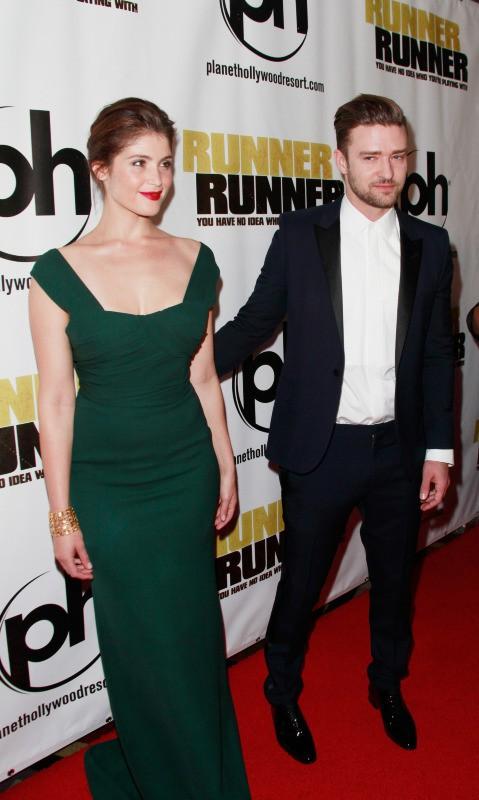 Gemma Arterton et Justin Timberlake lors de la première du film Players à Las Vegas, le 18 septembre 2013.