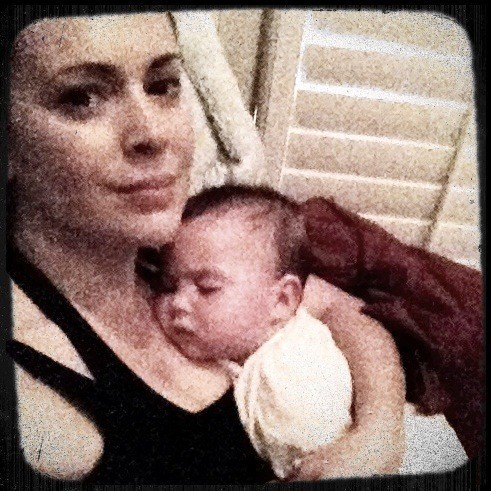 Alyssa Milano et son fils