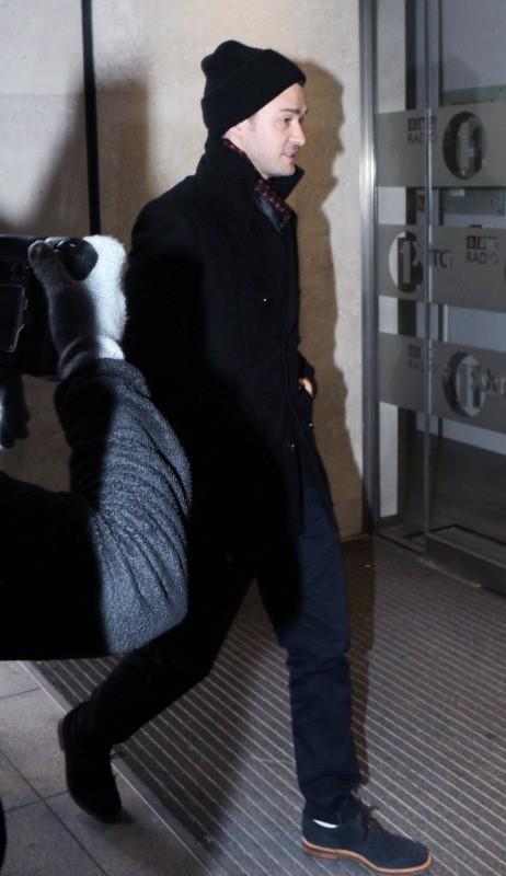 Justin Timberlake, Londres, 22 février 2012.