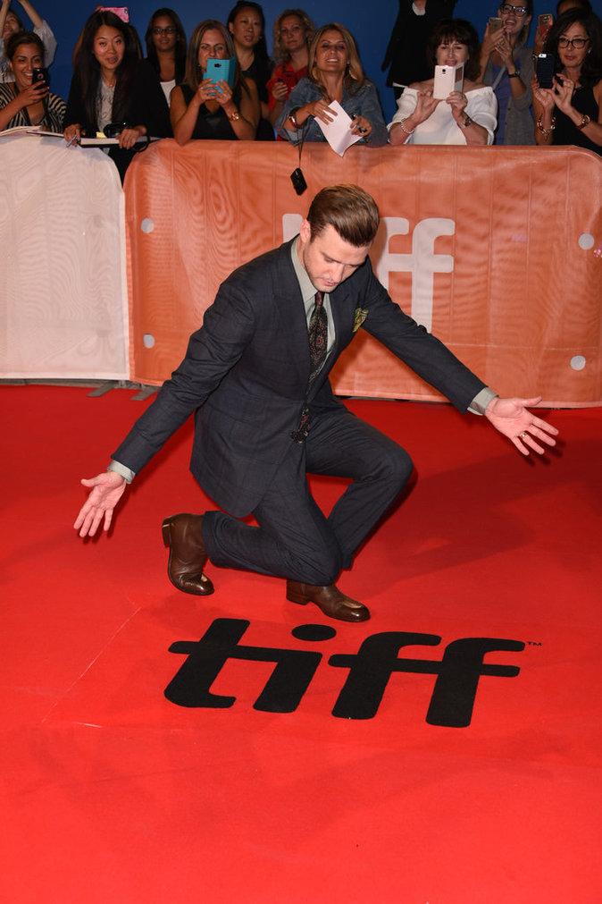 Justin Timberlake s'est éclaté sur le tapis rouge