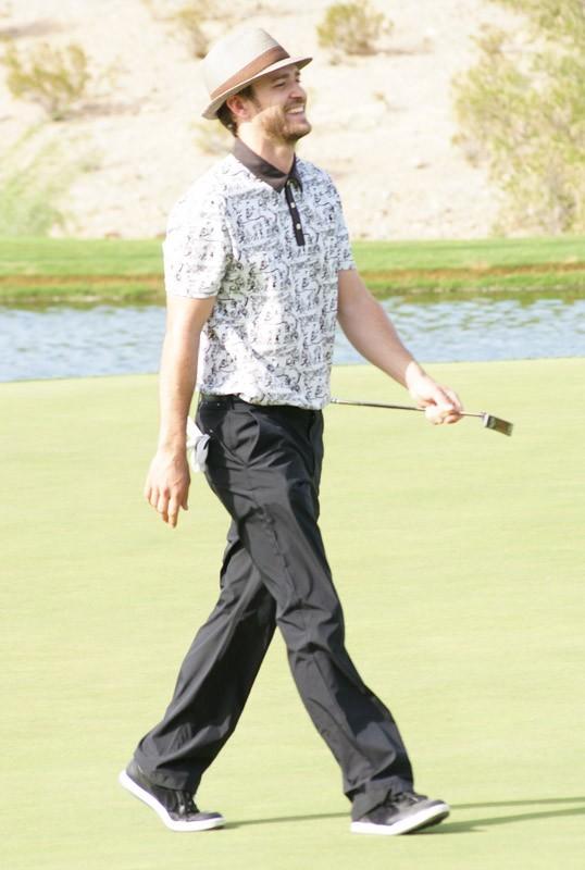 Justin Timberlake fait du golf à Las Vegas
