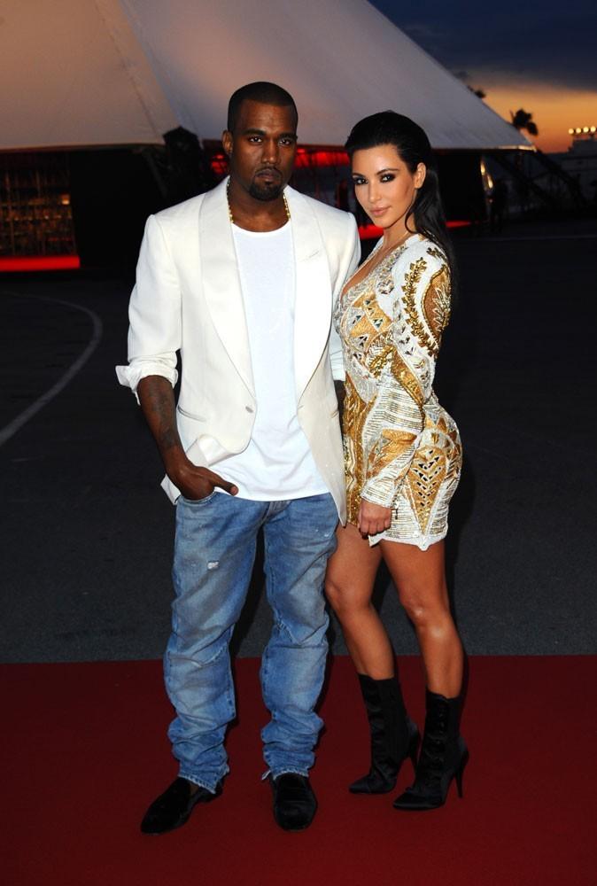Photos : Kanye West et Kim Kardashian en 2012