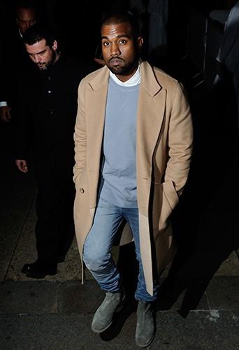 Kanye West à Paris le 28 février 2014