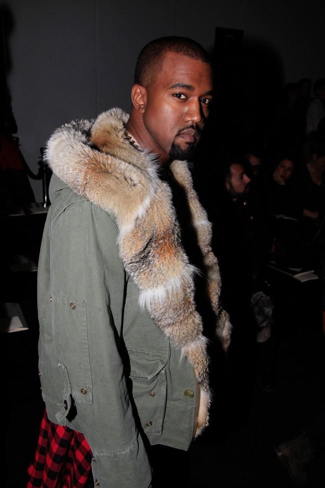 Kanye West au défilé Louis Vuitton à Paris le 17 janvier 2013