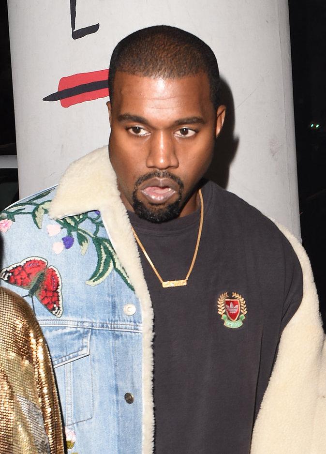 Kanye West présent pour l'after Balmain à Paris le 29/09/16