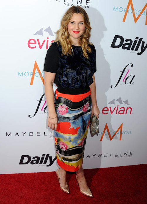 Drew Barrymore lors des Fashion Los Angeles Awards le 22 janvier 2015 !