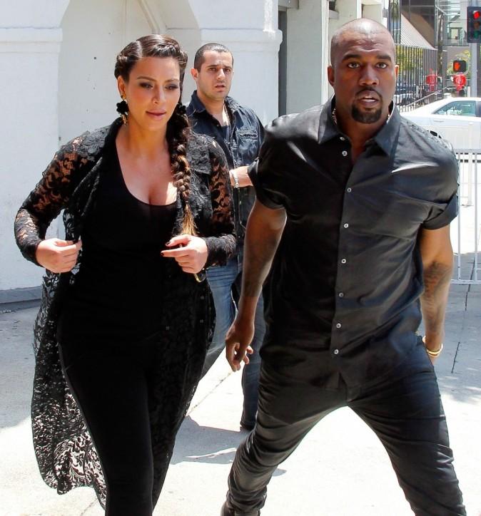 KIm Kardashian et Kanye West, Beverly Hills, 10 mai 2013.